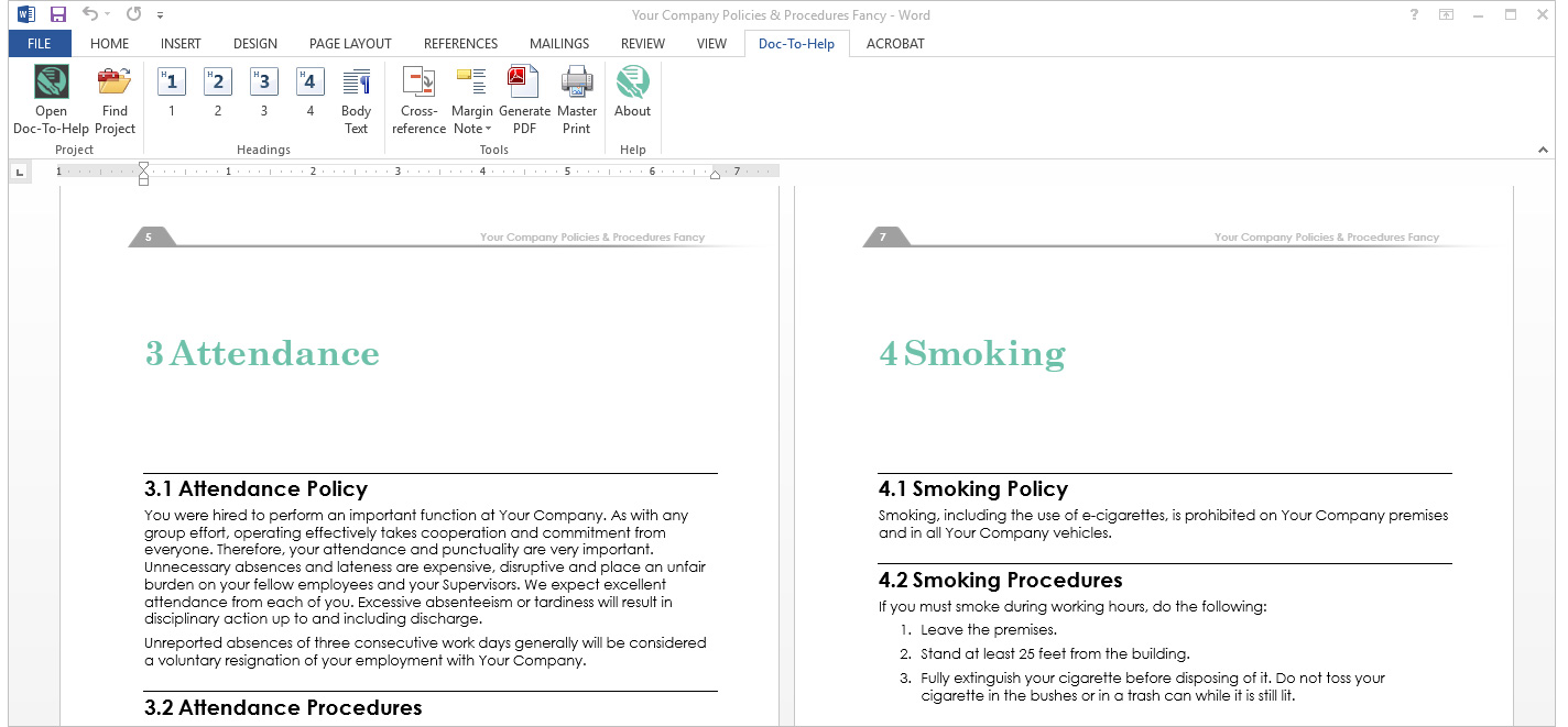 authoring and publishing using microsoft word madcap doc to help