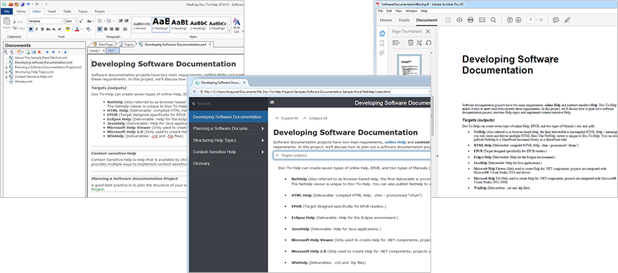 Software For Writing Online Help Documentation And User Assistance - Software documentation